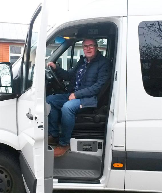 Verabschiedung des Schulbusfahrers Jockel Schulz in den Ruhestand