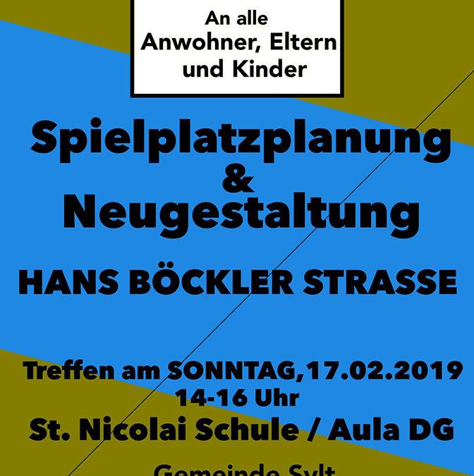 Spielplatzplanung der Gemeinde Sylt 2019