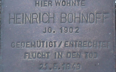 Stolperstein – Bohnhoff, Heinrich Friedrich August