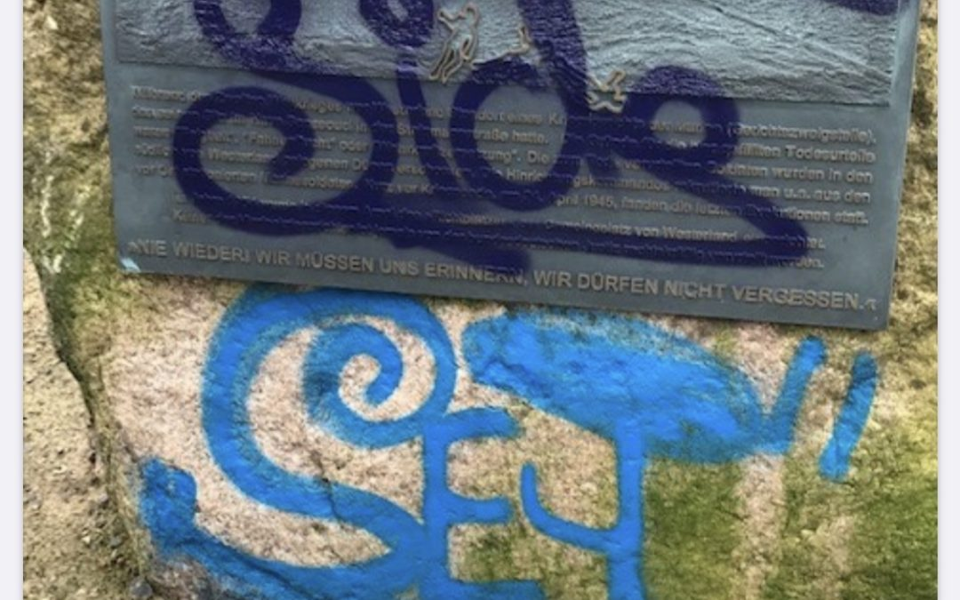 Belohnung gegen Grafitti-Schäden