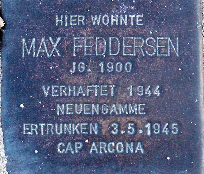 Stolperstein – Feddersen, Max