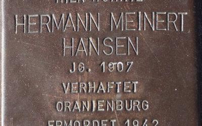 Stolperstein – Hansen, Hermann Meinert