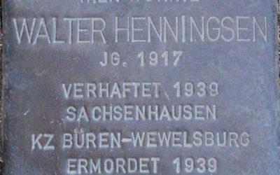 Stolperstein – Henningsen, Walter