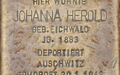Stolperstein – Herold, Johanna (geb. Eichwald)