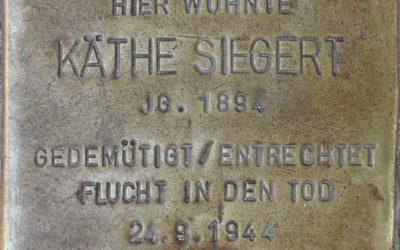 Stolperstein – Siegert, Maria Käthe (geb. Krost)