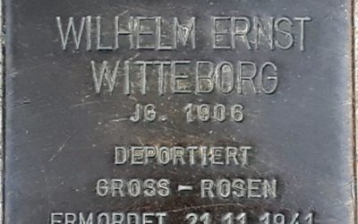 Stolperstein – Witteborg, Wilhelm Ernst