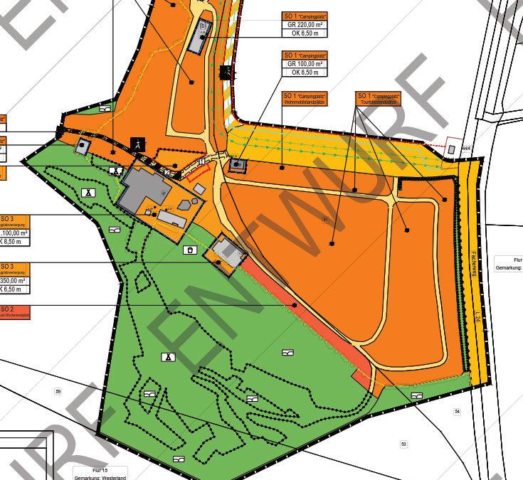 """Öffentliche Auslegung – Bebauungsplan Nr. 136 """"Campingplatz Westerland"""" und 13. Änderung des Flächennutzungsplanes der Gemeinde Sylt – Auslegungszeitraum vom 26.05. -2020 bis 30.06.2020"""