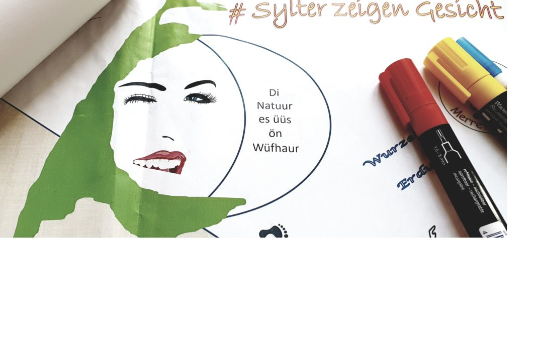 Sylter zeigen Gesicht – Bauzaun Aktion