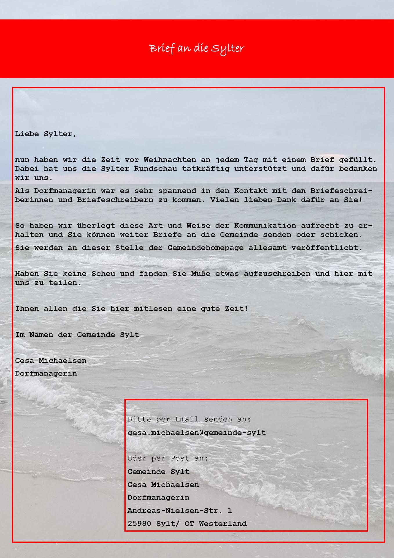 Einen brief sie schreiben Goethe