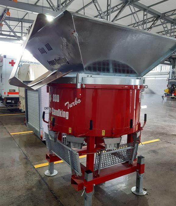 Neue Sandsackfüllmaschine für den Katastrophenschutz der Insel Sylt