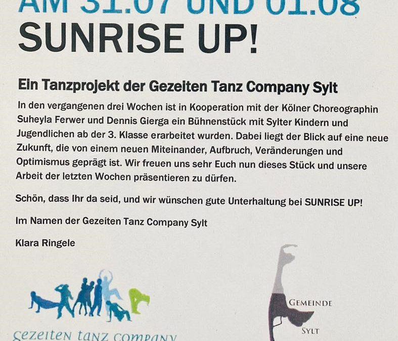 SUNRISE UP! am 31.07. und 01.08.2021